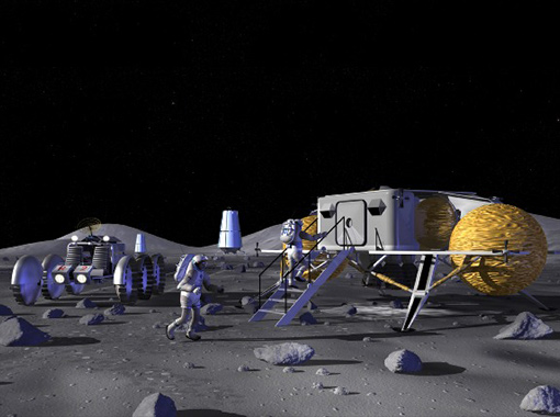 1003 Science & Tech The US and Russia collaborate to build a moon base